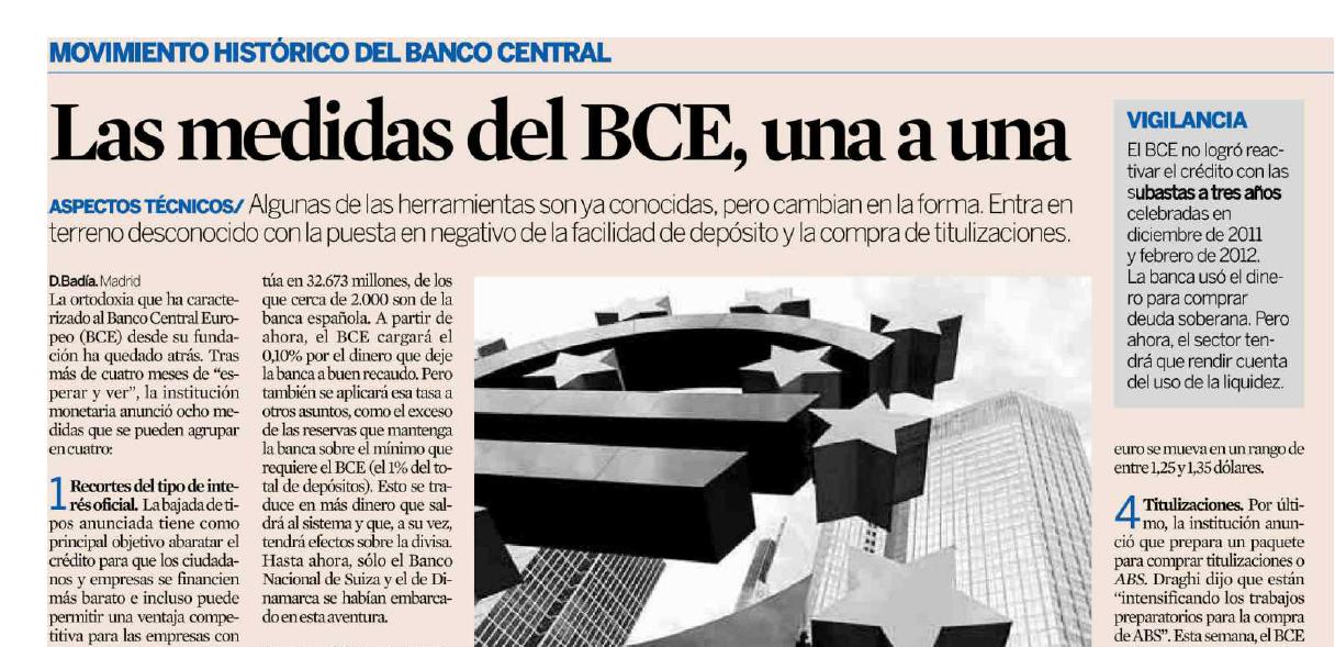Las medidas del BCE, una a una
